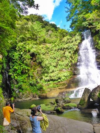西表島で滝トレッキング